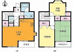 東京都江戸川区松島1丁目の賃貸アパートの間取り