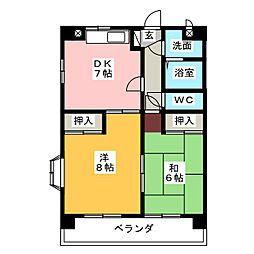 レジデンス啓和[2階]の間取り
