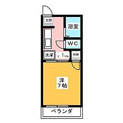 高蔵寺ハイム[2階]の間取り