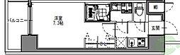S-RESIDENCE三国WEST 9階1Kの間取り