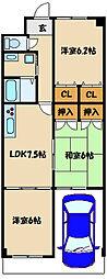 パールシャトー藤江駅前[1階]の間取り