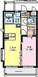 (仮称)出北・3丁目佐藤マンション 1階1LDKの間取り