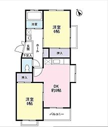 武蔵関マンション[2階]の間取り