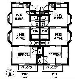 第二ミキハウス[1階]の間取り