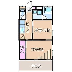 神奈川県横浜市港北区大倉山6の賃貸アパートの間取り