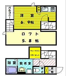 CB福津プライア[2階]の間取り