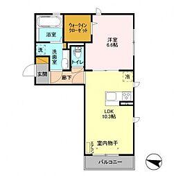 千葉県柏市高田の賃貸アパートの間取り