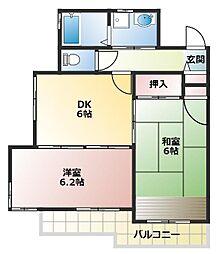 グランメール伊藤II[1階]の間取り