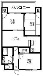 ウェルス21[3階]の間取り