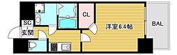 エスリード大阪上本町レジェーロ 13階1Kの間取り