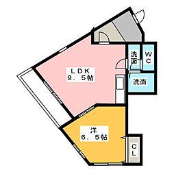 MG押切[4階]の間取り