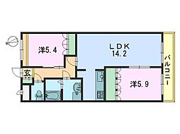 CHERRY HOUSE(チェリーハウス)[206号室]の間取り