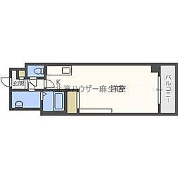 北海道札幌市北区北三十二条西4丁目の賃貸マンションの間取り