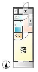 パークサイド・K[2階]の間取り