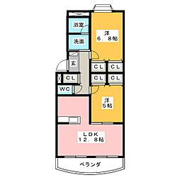 シャローム[2階]の間取り