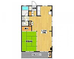 ベルゾーネマンション[3階]の間取り