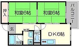 オークヒルズ北大阪[4階]の間取り