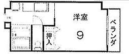 サンハイム橋本[205号室号室]の間取り