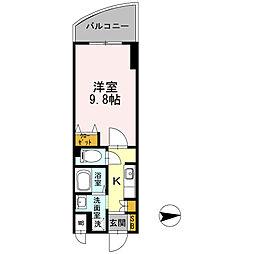 カスタリア新梅田[0506号室]の間取り