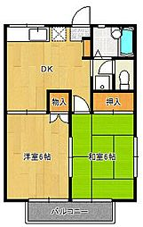 千葉県船橋市飯山満町3丁目の賃貸アパートの間取り