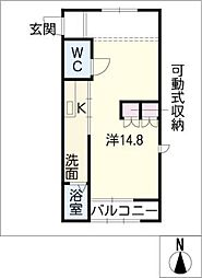 レジスタFC[2階]の間取り