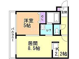 N-MODE・N23 4階1LDKの間取り