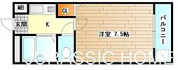 大阪府堺市北区百舌鳥本町1丁の賃貸マンションの間取り