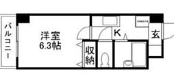 ジュネス医大東[9階]の間取り