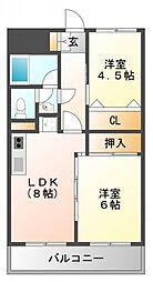 コアロード桃山台[2階]の間取り