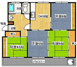 静岡県三島市旭ヶ丘の賃貸アパートの間取り