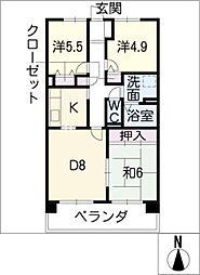 サンコート桃花台 C棟[1階]の間取り