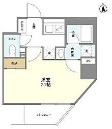 都営大江戸線 新御徒町駅 徒歩3分の賃貸マンション 2階1Kの間取り