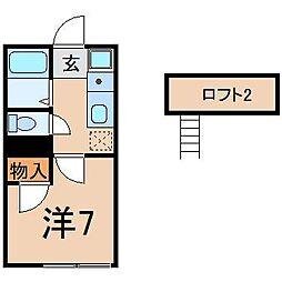 0149アトレ3号館[106号室]の間取り