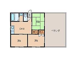 レオヤカタ[9階]の間取り
