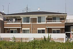 愛知県名古屋市名東区猪高町大字高針字荒田の賃貸アパートの外観