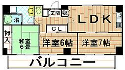 リーグレック元町[6階]の間取り