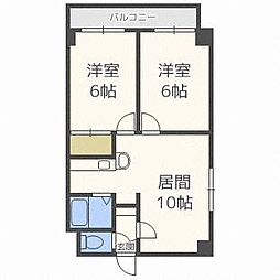 ロイス札幌[3階]の間取り