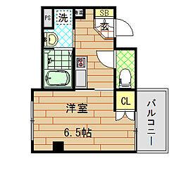 IF俊徳道(アイエフ俊徳道) 6階1Kの間取り