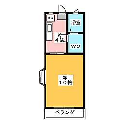 ジェミネビラ95[2階]の間取り