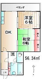 南町住宅[510号室]の間取り