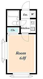 ローズアパートF13B棟[110号室]の間取り