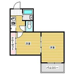 ハイツエジンバラ[1階]の間取り