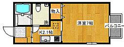 エルミタージュ北仙台[2階]の間取り