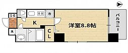 JR山陽本線 岡山駅 徒歩17分の賃貸マンション 5階1Kの間取り