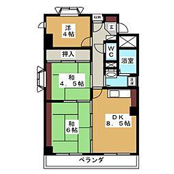 秋葉マンション[1階]の間取り