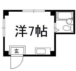 築山マンション[3-B号室]の間取り