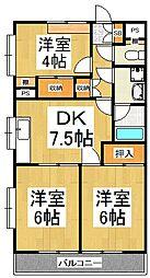 アプニール東所沢[1階]の間取り