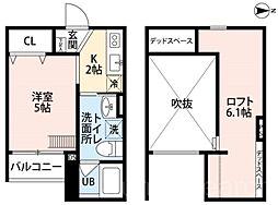 ONESTIO(オネスト)[2階]の間取り
