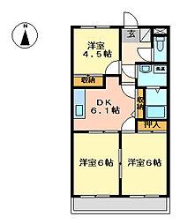 ベールド[2階]の間取り