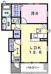 ピングーWEST[1階]の間取り